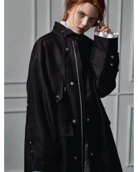 Clue de Clare - Long Field Coat Black - Lyst