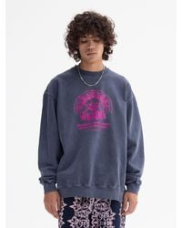 WKNDRS Smile Graphic Printing Sweatshirt (blue)