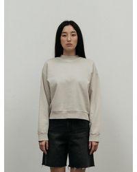 Amomento Garment Dyed Sweatshirt - Black