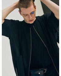 Add - [unisex] Short Sleeve Zipper Jacket Black - Lyst