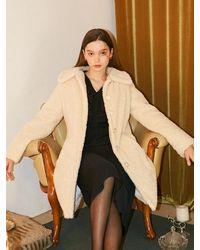 Salon de Yohn Teddy Bear Coat - White