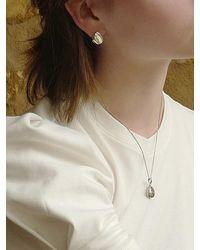 FLOWOOM Pebble Earrings - White