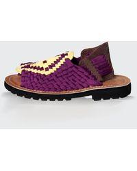 Chubasco Men-aztec Sandals Morado Yellow Tobacco - Purple