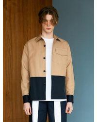 BONNIE&BLANCHE - Layered Shirt Jacket Beige - Lyst
