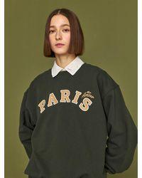 HIDDEN FOREST MARKET Paris Sweatshirt - Green