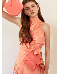 Atelier Park Double Side Bag Coral Pink