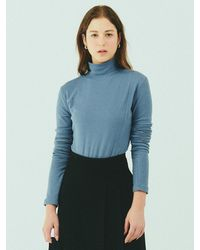 Bensimon Half Turtleneck Knit - Blue