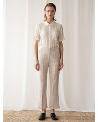 among A Linen Trousers - Natural