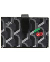 ROSA.K Monogram Cc Accordion Wallet - Black