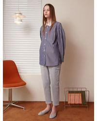 a.t.corner [bossa] Denim Girl Fit (aepa1e303b1) - Grey