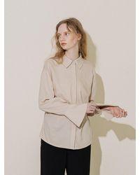COLLABOTORY Soft Shirt Blouse - Natural