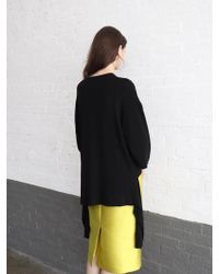 PLOT Minimal Bell Sleeve Knit_2colors - Black
