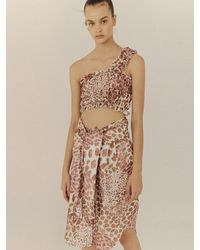 Fleamadonna Leopard Tied Skirt - Multicolor