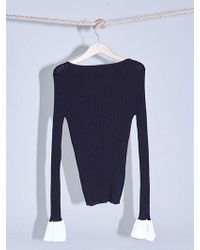 W Concept - 17 Spring Sleeve Flare Knit - Lyst