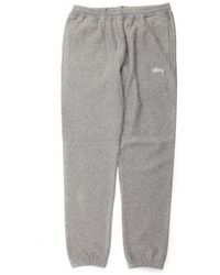 Stussy - Overdye Stock Fleece Pant In Grey Heather 116301 G - Lyst