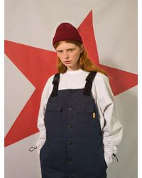 W Concept - 8f Suspender Buckle Trousers Navy - Lyst