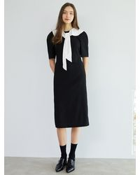 F.COCOROMIZ Collar Romantic Venus Dress (bk) - Black
