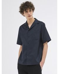 COLLABOTORY - Eaamb3001m Out Pocket Cotton Navy - Lyst