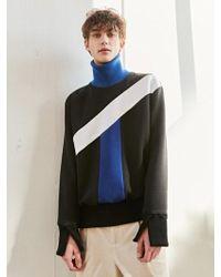 BONNIE&BLANCHE - Blue Pieces High Neck Sweatshirt Black - Lyst