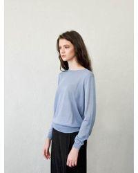 PLOT Soft Yarn Roun Neck Knit_4colors - Blue