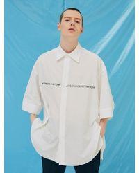 Add - [unisex]lettering Avantgarde Short Sleeve Shirts White - Lyst