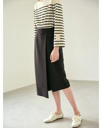 COLLABOTORY Wrap Midi Skirt - Black