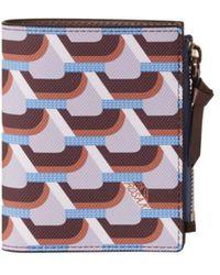 ROSA.K Cabas Monogram Bi Fold Wallet - Blue