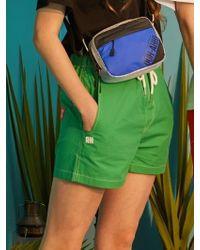 W Concept - Vivid Shorts Green - Lyst