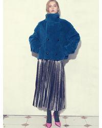 UNTAGE Uws-fs06 Glitter Pleat Skirt - Metallic