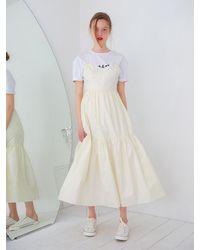 VEMVER Sleeveless Cotton Maxi Dress - White