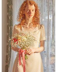 Salon de Yohn Chiffon Layered Midi Dress - White
