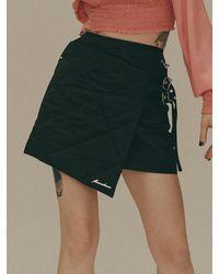 Fleamadonna Padded Wrap Mini Skirt - Black