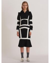 W Concept - Hoodie Knit Structural Mermaid Dress_bk - Lyst