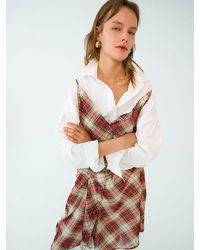 OUI MAIS NON Natalie Flannel Dress - Brown