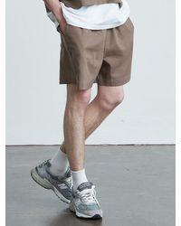 VOIEBIT V013 Cotton Banding Short Pants Brown