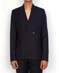 DOZOH - Pin Striped Double Blazer Jacket - Lyst