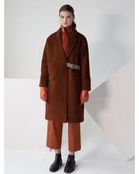 Petite Studio Carmen Wool Coat - Brown