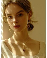 FLOWOOM - Orbit Necklace Gold - Lyst