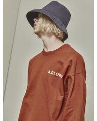 A.GLOWW - Floppy Cutting Sweatshirt Brick Red - Lyst