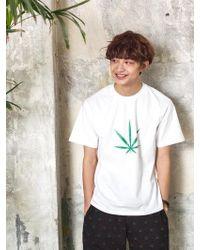 Chubasco - M T Shirt Big Weed White M17101[unisex] - Lyst