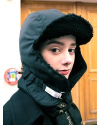 SLEEPYSLIP Reversible Satin Trooper Hat Black