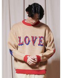 URBANDTYPE Love Crewneck Knit - Natural