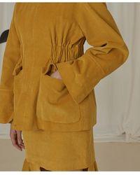 EJnolee Corduroy Safari Jacket - Yellow