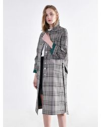 W Concept - Classic Mac Trench Coat Green - Lyst