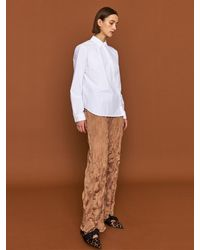 HIDDEN FOREST MARKET Sully Wrinkle Banding Trousers - Natural