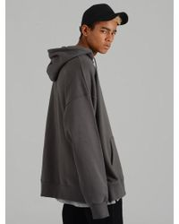 COSTUME O'CLOCK - Smcocl K Oversized Hooded Sweatshirt Dark Gray - Lyst