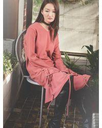 Grace Raiment - Eyelet Knit Dress - Lyst