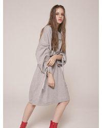CLUT STUDIO [unisex] 0 3 Shirring Sweatshirt - Grey