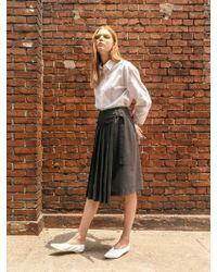 COLLABOTORY - B7cma7001m Grey Pleats Wrap Skirt - Lyst