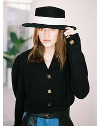 THE ASHLYNN Ivy Wool Blouse - Black